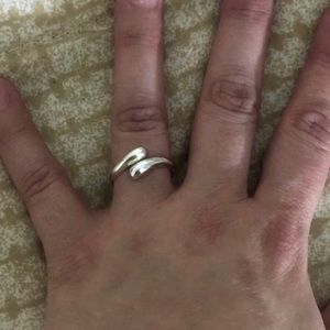 Jewelry - 925 Stamped SS Adjustable Ring (6-10) NWT